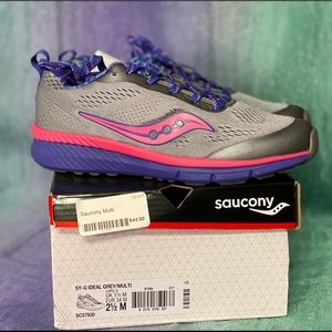 Saucony gray pink purple shoes